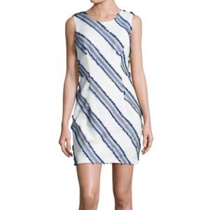 NWT Milly Kendra Diagonal-Stripe Mini Sheath Dress